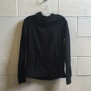 Lululemon black zip up jacket w/ hood sz 4 58792